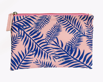 Palm leaves makeup pouch thumb