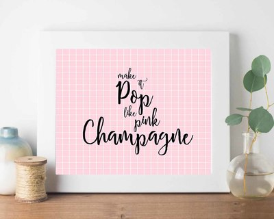 Pink champagne frame thumb
