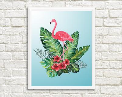 Tropical flamingo thumb