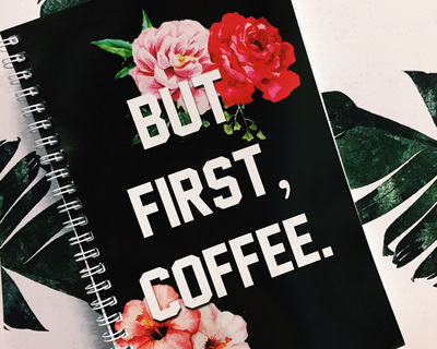 But first coffee notebook thumb