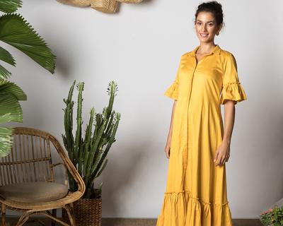 Maia maxi dress tuscan yellow thumb
