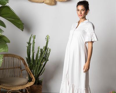 Maia maxi dress summer white thumb