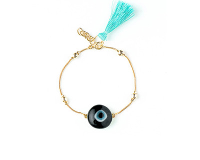 Boho bracelets turquoise tassel thumb