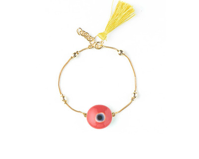 Boho bracelets yellow tassel thumb