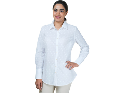 Classic womens shirt white print thumb