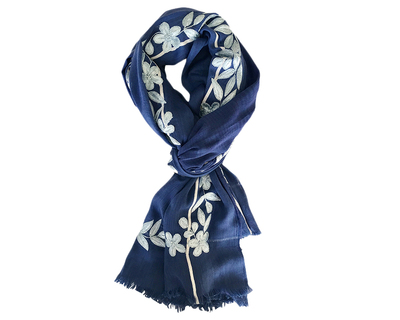 Bewitched blue scarf thumb