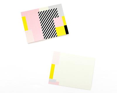 Pink graphic notecard thumb
