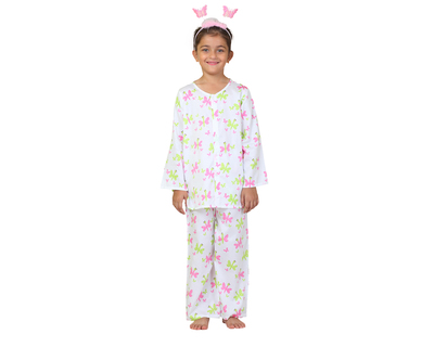 Kids butterfly printed nightsuit thumb