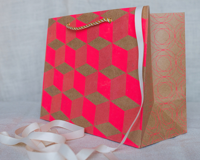 Opil medium gift bag pink thumb