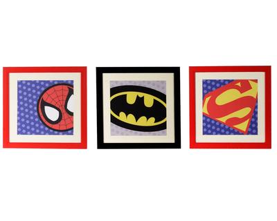 Super hero wall art thumb