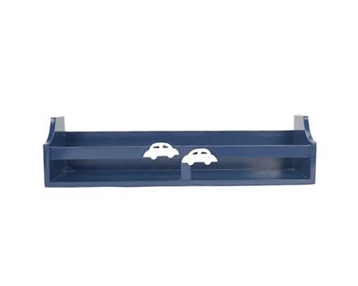 Blue car wall shelf thumb