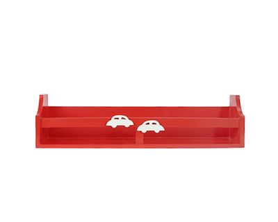 Red car wall shelf thumb