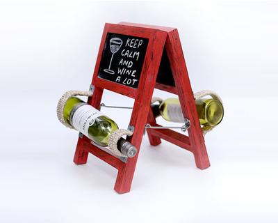 Vermilion ladder style wine holder thumb