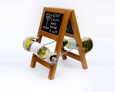 Rustic ladder style wine holder thumb