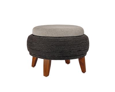 Monochrome weaved ottoman thumb