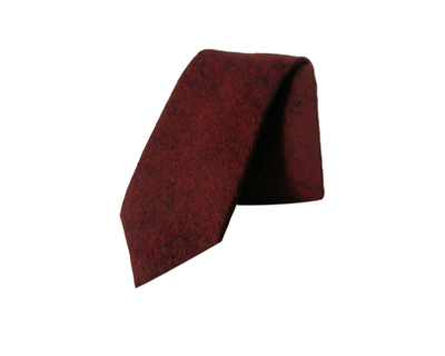 Maroon solid cotton tie thumb