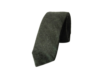 Green solid cotton tie thumb