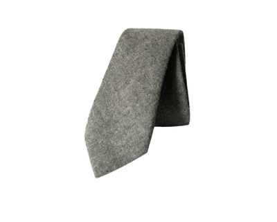 Grey solid cotton tie thumb