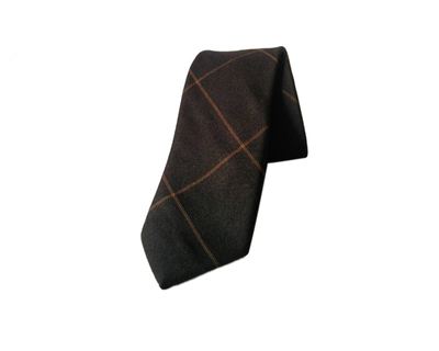 Woolen black checks tie thumb