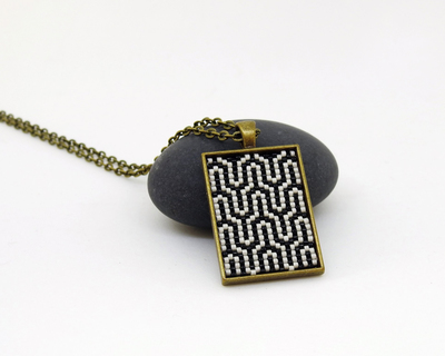 Seamless short pendant black white art deco thumb