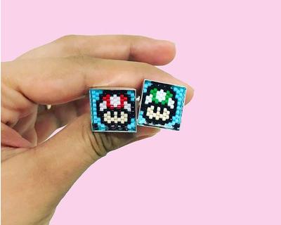 Mario cufflinks thumb