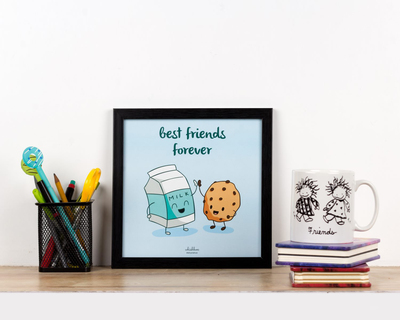 Milk and cookie poster frame thumb