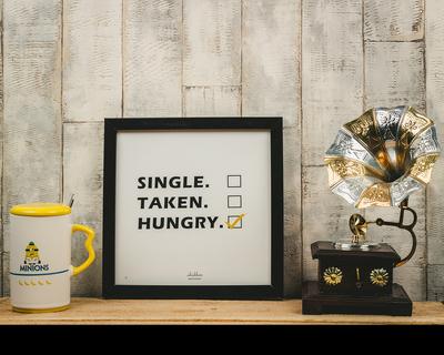 Single taken hungry poster frame thumb