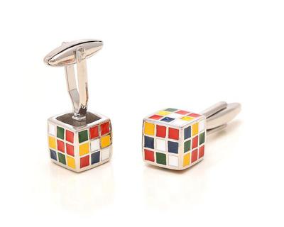 Rubic s cube cufflinks thumb