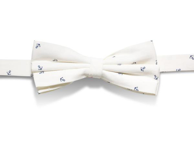 Cotton anchor print bowtie thumb