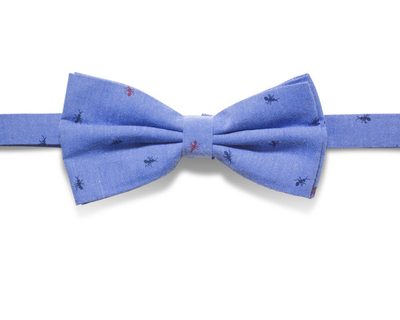 Cotton ant print bowtie thumb