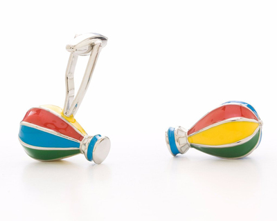 Hot air balloon cufflinks thumb