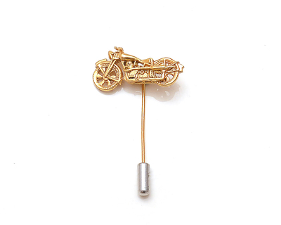 Bullet lapel pin thumb