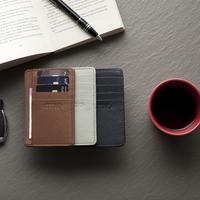 Card wallet light grey small
