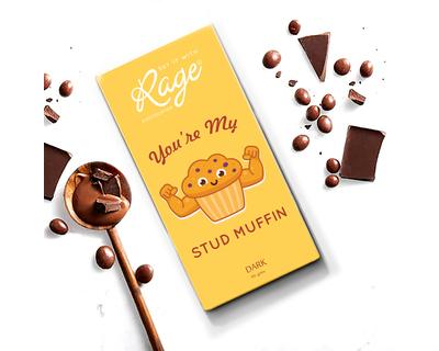 Valentines day you re my stud muffin dark chocolate thumb