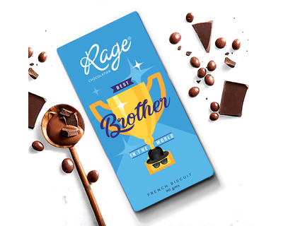 World s best brother chocolate bar 90 gm thumb