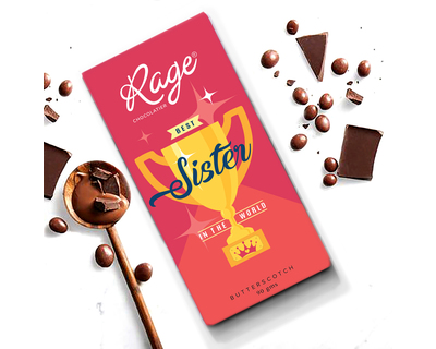 Rage world s best sister chocolate bar 90 gm thumb