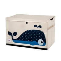 Blue whale toy chest small