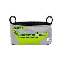 3 sprouts green crocodile stroller organiser small
