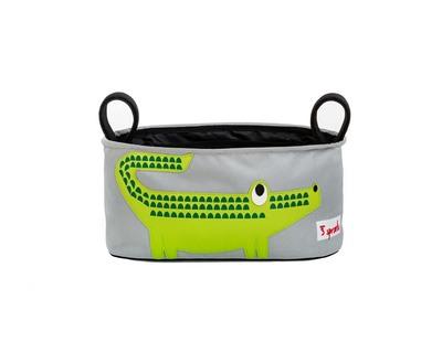 3 sprouts green crocodile stroller organiser thumb