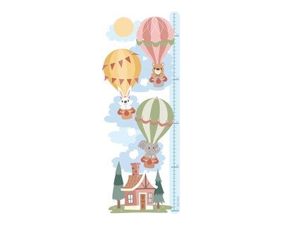 Hot air balloon height chart sticker thumb
