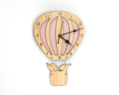 Hot air balloon clock thumb