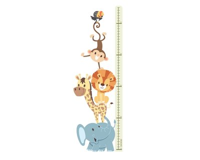 Animals height chart sticker thumb