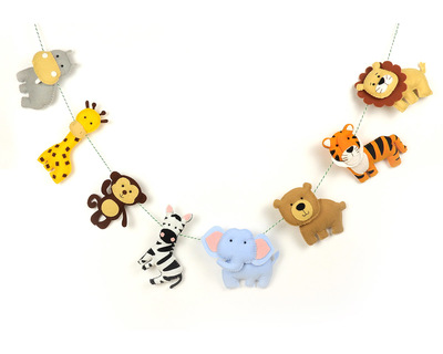 Wild jungle animal bunting thumb