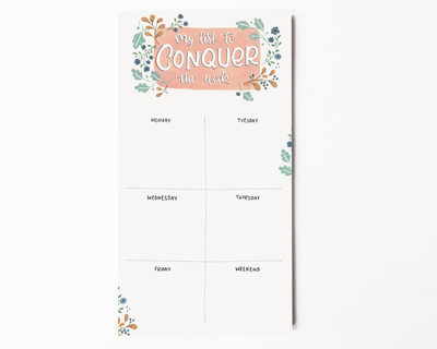 Weekly notepad my list to conquer the week thumb