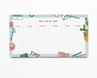 Weekly notepad daily plans thumb