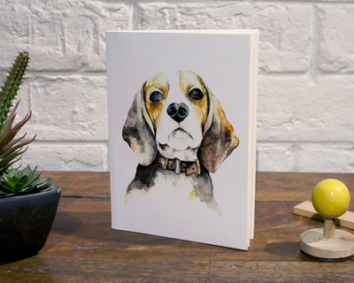 Notebook beagle thumb