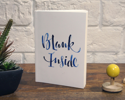 Notebook blank inside thumb