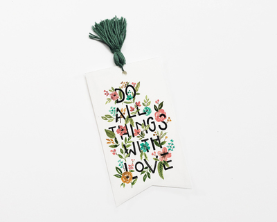 Bookmark do all things with love thumb