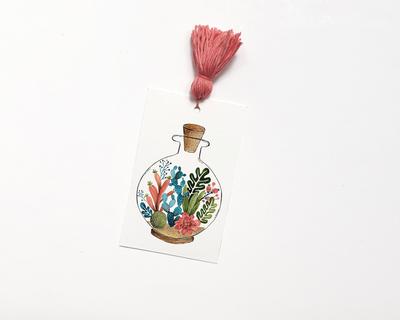 Bookmark succulent jar thumb