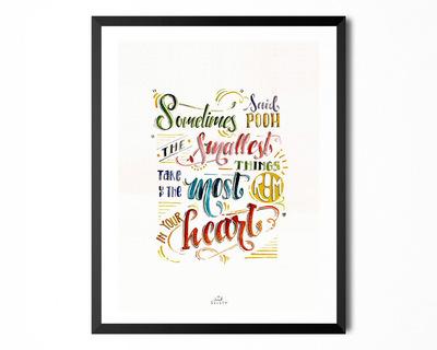 Art print pooh thumb